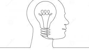 Cartoon Drawing Light Bulb Continuous Line Drawing Light Bulb Symbol Idea Stock Vector