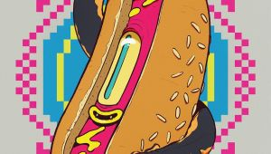 Cartoon Drawing Of A Hot Dog Hot Dogs On Behance by Riccardo Carusi Comic Drawings