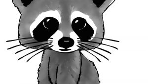 Cartoon Drawing Raccoon Cartoon Raccoon Drawing In 4 Steps with Photoshop Tattoo Ideas
