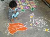 Cartoon Drawing Rangoli Cartoon Rangoli Designs Rangoli Rangoli Rangoli Designs Kolam
