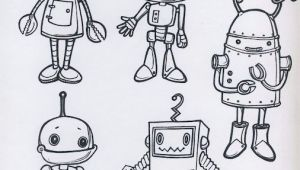 Cartoon Drawing Robot Step by Step Da Colorare Lessons 3 5 Pinterest Drawings Robot and Robot Art