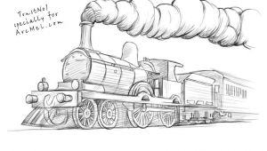 Cartoon Drawing Train How to Draw A Train Step by Step 4 Art Drawings Train Drawing