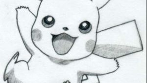 Cartoon Ki Drawing Easy Pikachu Drawing if This Was Colored It Would Be even Better