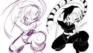 Cartoon Vs Drawing Knives Chau by Bleedman Deviantart Com On Deviantart Kingdom