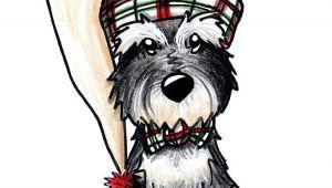 Christmas Animal Drawings Winter Schnauzer by Kim Niles Schnauzer Art Dog Art