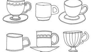 Coffee Mug Drawing Easy Tea Cups Tea Cup Drawing Drawings Easy Drawings