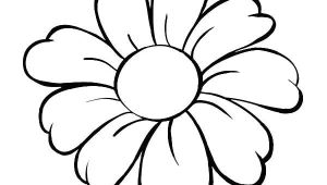 Cool Easy Flowers to Draw Daisy Coloring Pages Simple Flower Drawing Printable