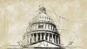 Courthouse Drawing Easy Arch Sketch Photoshop Action 19822932