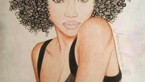 Curly Hair Afro Black Girl Drawing I Know Her Natural Hair Art Black Women Art Afro Art
