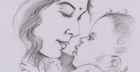 Cute Drawing Mom My Pencil Drawing Of Indian Mother Portraits In 2019 Drawings