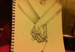 Cute Drawing Relationship Music is Love Sketch Holdinghands Earphones Cute Relationship