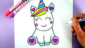Cute Drawings Easy Unicorn How to Draw A Super Cute and Easy Unicorn Youtube Draw In 2019