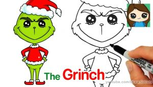 Cute Easy Christmas Drawings for Kids How to Draw the Grinch Easy Xmas Drawing Cute Drawings