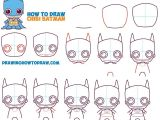 Cute Easy Things to Draw for Kids How to Draw Cute Chibi Batman From Dc Comics In Easy Step by