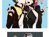 Deadpool 2 Cartoon Drawings Kiss Deadpool 2 Negasonic Yukio Deadpool Cable X force