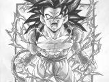 Dragon Ball Z Drawing Ideas Dbz Gt Character Drawings Dragonball Gt Black and White Goku Ss4