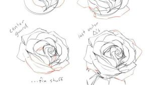 Draw A Rose From A Circle How to Draw A Rose Tutorial by Cherrimut On Tumblr Art Drawings