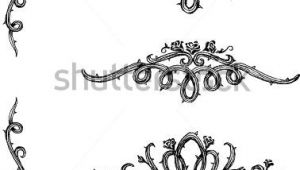 Draw A Rose Vine Vine Roses Set Of Thorny Rose Vines In Hand Drawn Sketch Set