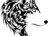 Draw A Tribal Wolf Tribal Tiger Tattoo Designs Tete De Loup Tribal Free Download