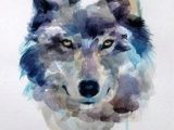 Draw Realistic Wolf Face How to Draw A Wolf Draw A Wolf Watercolor Step 7 Of 7 Push