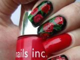 Draw Roses On Nails 161 Best Rose Nails Images Rose Nails Pink Nails Belle Nails