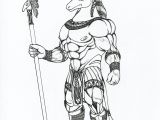 Drawing 0f This is An Ink Line Art Drawing Of the Egyptian God Set He is the