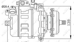 Drawing 5.0 Vw touareg 7l 5 0d Air Con Compressor 02 to 10 Ac Conditioning