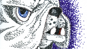 Drawing 7th Standard Here S My Pointillist Cujo Got A Picture You D Like to Draw Paint