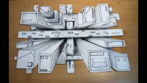 Drawing A Birds Eye How to Draw One Point Perspective 3d Illusion High Rise