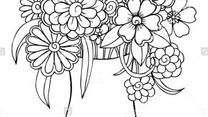Drawing A Bouquet Of Flowers Vector Bouquet Of Flowers In A Vase Art Draw Flowers and Plants