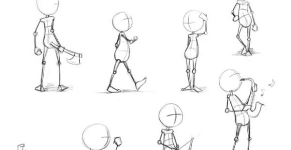 Drawing A Cartoon Body Dynamic Animated Poses Google Search 2d Art Drawi