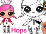 Drawing A Cartoon Bride How to Draw A Lol Surprise Doll Hops Youtube