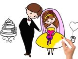 Drawing A Cartoon Bride Wedding Bride and Groom Coloring Book How to Draw Set for Wedding
