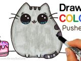 Drawing A Cartoon Cake How to Draw Color Pusheen Cat Step by Step Easy Cute Cartoon Cat