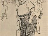 Drawing A Cartoon Cricket Cricket Middle and Leg Please 1923 Charles Grave 1886 1944