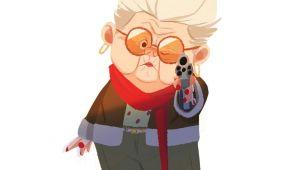Drawing A Cartoon Grandma Grandma Drawing Painting Animation Design Conceptart