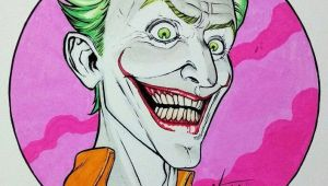 Drawing A Cartoon Joker Joker Marker and Ink Illustration for tonight Hope You Like It
