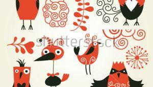 Drawing A Cartoon Owl Easy to Draw Owl Cartoon Set Od Cute Cartoon Birds Stock Vector