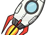 Drawing A Cartoon Rocket Space Rocket Cartoon Vector Illustration Reflections
