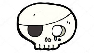 Drawing A Cartoon Skull Weinen Pirate Skull Cartoon Stockvektor A C Lineartestpilot 13571050