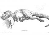 Drawing A Cartoon T-rex Concept Art for the Cut Sleeping Rex Scene Jurassic Park In 2019