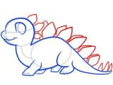 Drawing A Cartoon T-rex Dinosaurs How to Draw A Stegosaurus for Kids Drawing Lessons