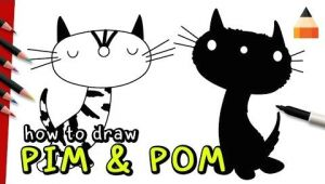 Drawing A Cat Youtube How to Draw Cats Pim Pom Youtube How to Draw Videos