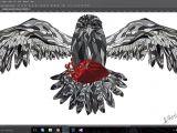 Drawing A Heart On Window My New Work Art Drawing Eagle Wacompro Wacom Heart Blood