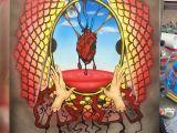 Drawing A Heart On Window Telltale Heart Airbrushed Drawings Pinterest Drawings