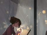 Drawing A Heart On Window Wallpapers Girl Rain Window We Heart It Girl Rain and Coffee