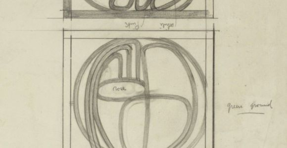 Drawing A Mackintosh Rose Charles Rennie Mackintosh 1868 1928 Design Drawings for Two