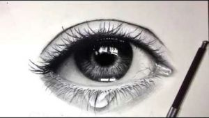 Drawing A Realistic Eye Youtube Tutorial How to Draw Shade A Realistic Eye and Teardrop with