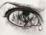 Drawing A Sad Eye Pin by Rachel Stevens On Red and Black Drawings Art Art Drawings