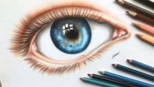 Drawing An Eye In Colored Pencil An Eye Colored Pencil Drawing by Polaara Colored Pencil